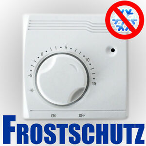 Frost-Protection-Frost-Limiter-Thermostat-Temperature-Controller-5-C-15-C-Surface-Mounting