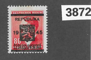 #3872   MNH  Sc67  80Hal  BaM WWII Liberation 1945 Local Overprint Adolf Hitler