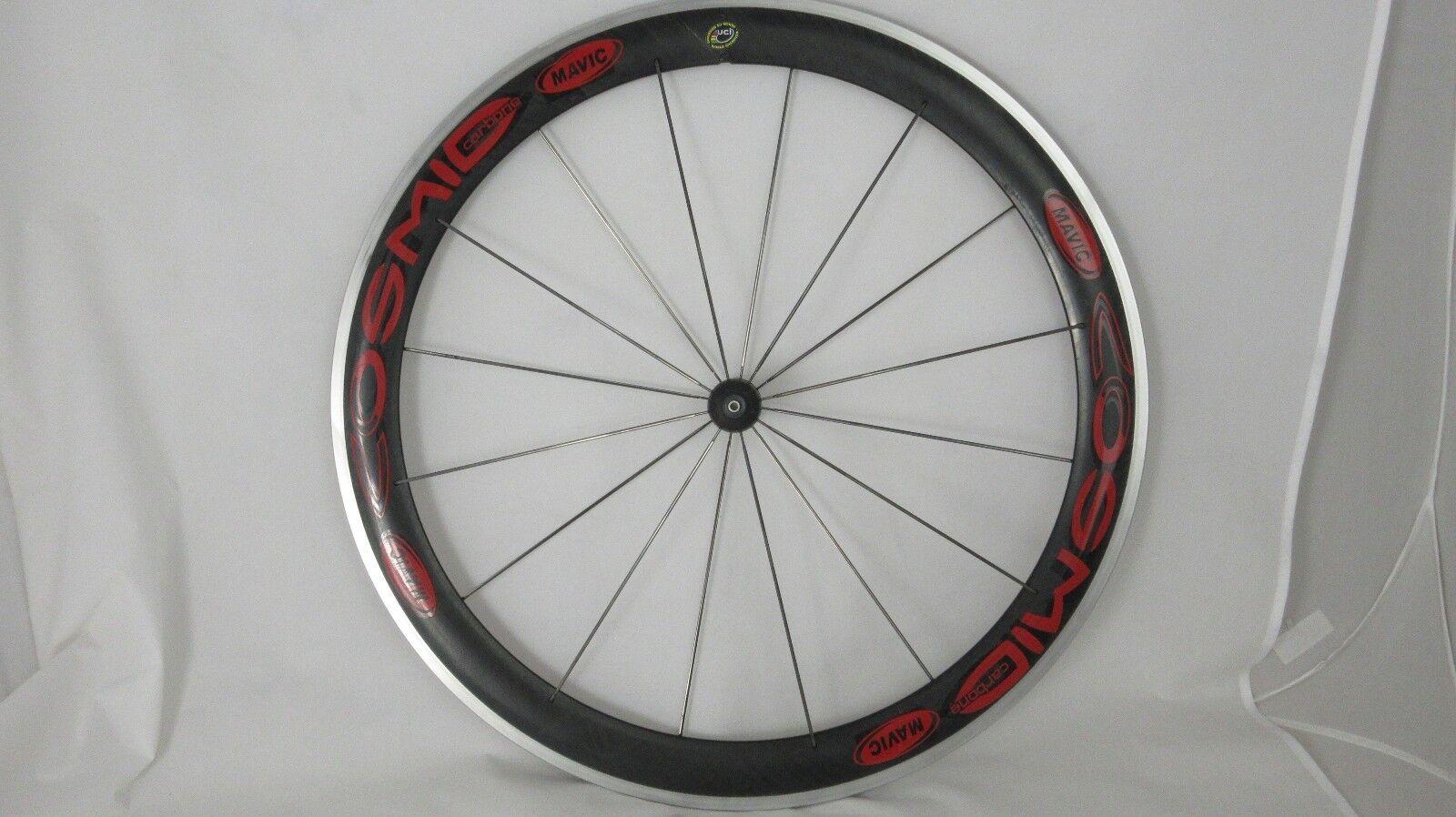 MAVIC COSMIC Carbon 50mm Road Bike FRONT Clincher Wheel, 16H