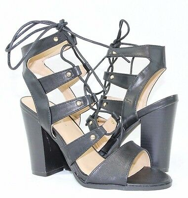 Women Fashion Dresses High Cuban Heels Strappy Sandals Shoes New Design Lace Up