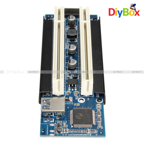 USB 3.0 PCI-E Express X1 to Dual PCI Riser Extend PCI-E 1x to 16x Adapter Card