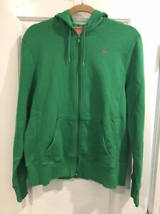 fb6707db1d2d New Nike Women s Zip-Up Hooded Green Sweatshirt Size Large 12-14 ...