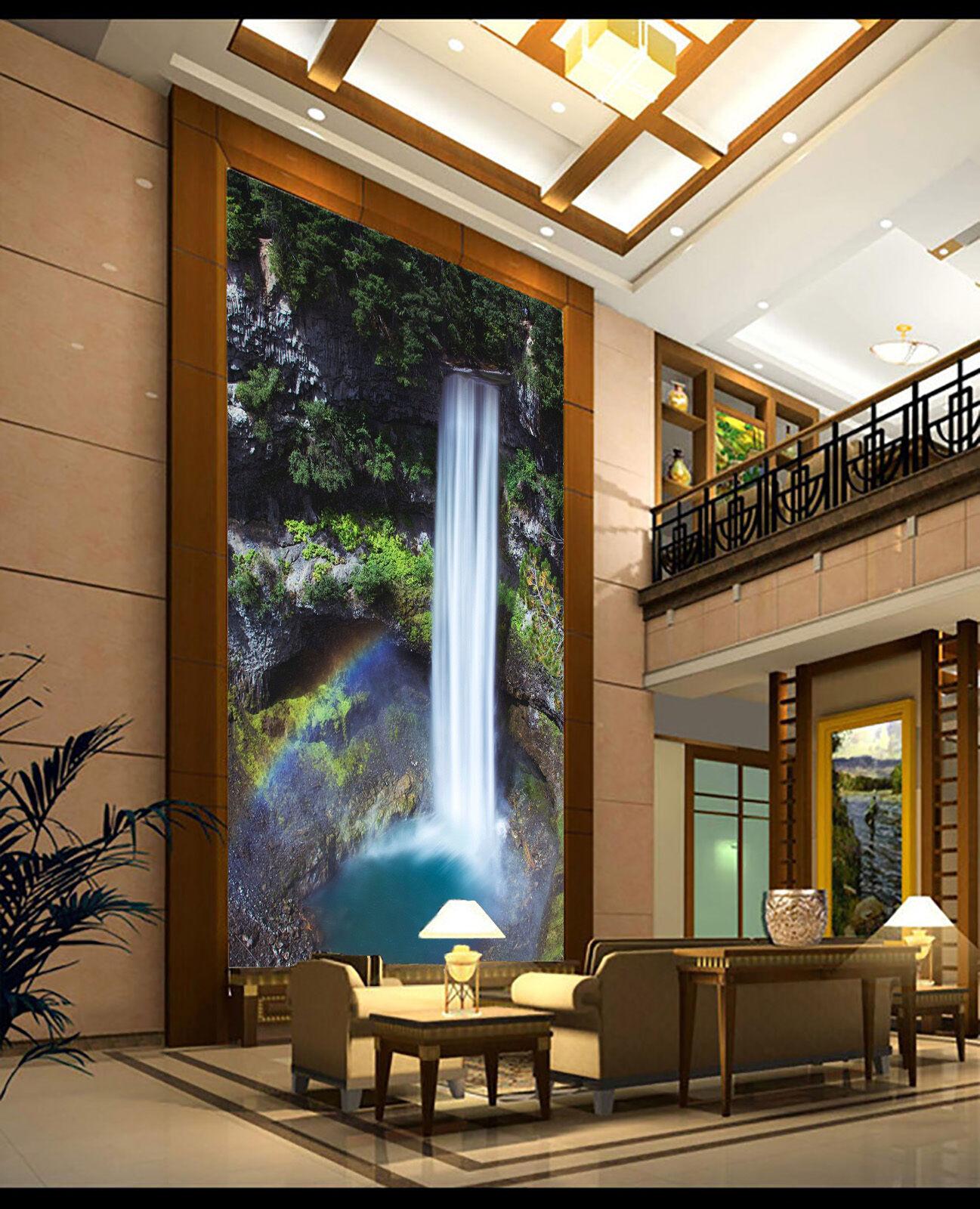3D Pretty Waterfall 5 Wand Papier Wand Drucken Decal Wand Deco Innen AJ Wand Papier
