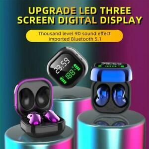 9D auricular Bluetooth estéreo brotes LED de Visualización del Reloj Auriculares inalámbricos R180