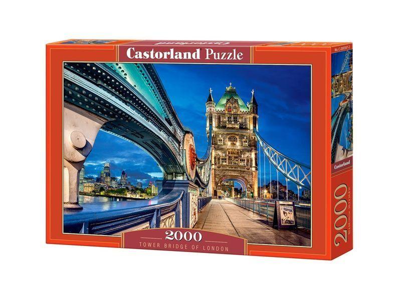 Castorland puzzle 2000 stcke - tower bridge 92x68cm 36  x27  versiegelte kiste c-200597