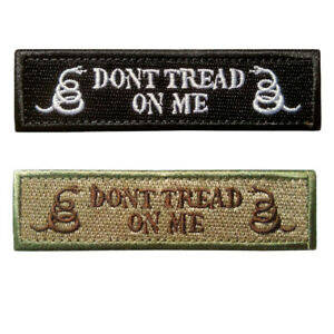 Fashion-Cool-Snake-Don-039-t-Tread-On-Me-Military-Patch-Tape-Army-Badge