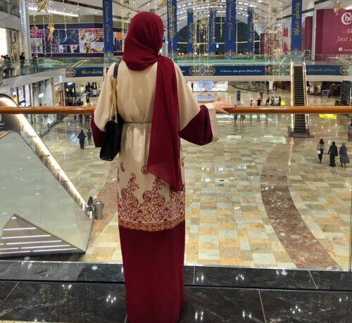 Ramadan Muslim Abaya Dress Cardigan Long Robe Dubai Gowns Tunic Jubah Arab Islam