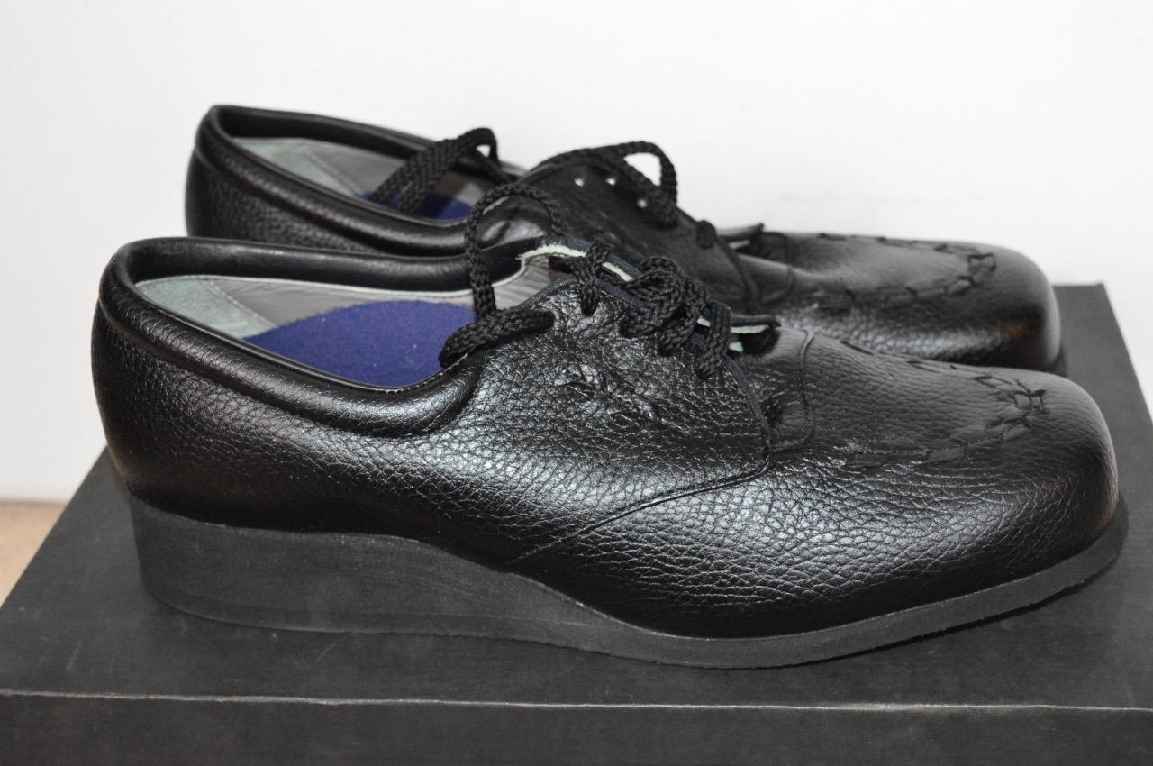 P. P. P. con Minor ARROW Negro Ortopédicas Diabético Zapatos Talla 9.5B  sin mínimo