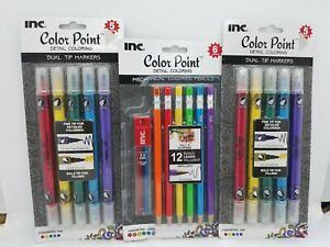 2 Packs Color Point Markers Dual Tip and Metallic ~ Assorted Colors