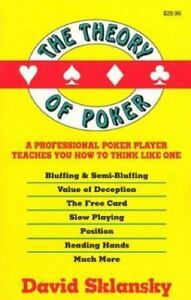 Theory Of Poker David Sklansky Pdf
