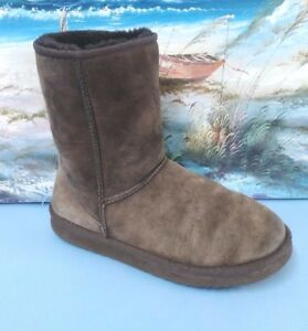 Details About Womens Ugg Australia 5825 Classic Short Dark Brown Suede Sheepskin Boots Size 9