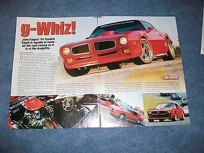 1970 Pontiac Firebird Trans Am Original Car Print Article J264