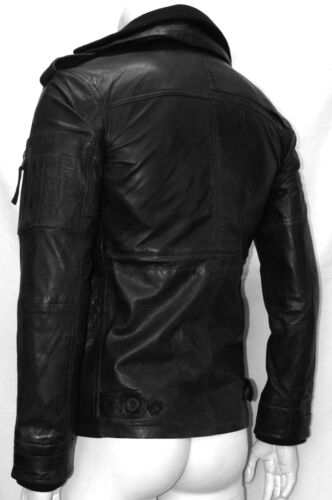 Men/'s JAP Black Stylish Designer Casual Real Soft Napa Leather Fashion Jacket