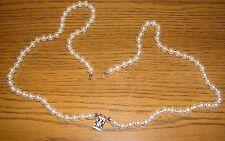 Perle Catena 80cm lungo perline di vetro CATENA PENDENTE CON