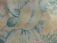 lambskin leather hide Vintage Hawaiian Floral Perforated w//Taupe smooth back 6sf