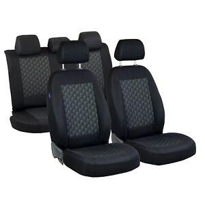 CAR SEAT COVERS FOR SUZUKI JIMNY FULL SET BLACK GREY 3D EFFECT