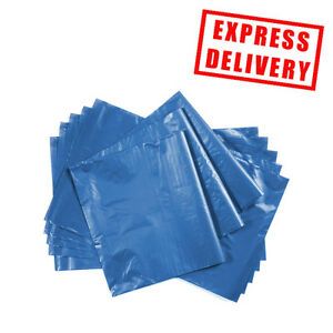 """100 13"""" x 19"""" Blue Mailing Plastic Postage Post Packing Postal Courier Bags"""