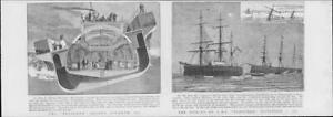 1901Antique-Print-SHIPPING-Sinking-H-M-S-Vanguard-Bessemer-Saloon-Steamer-72