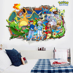 Ordinaire Image Is Loading DIY 3D Effect Cute Pokemon Pikachu Decal Wall