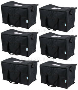 Image Is Loading 6 Pack Insulated Black Nylon Hot Cold Catering