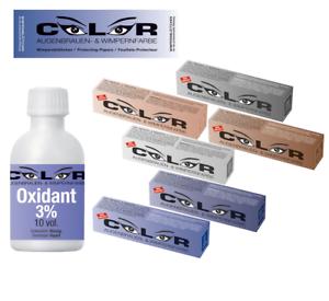 Augenbrauen-amp-Wimpernfarbe-15ml-versch-Farben-3-Oxidant-50-ml-Wimpernblaettchen