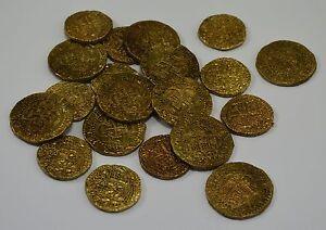 Superb Job Lot 20 Spanish Gold Doubloons - Coins/Treasure<wbr/>/Pirates/Spani<wbr/>sh