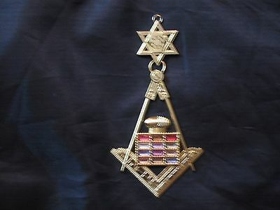 Masonic Royal Arch Past High Priest Jewel Colored Stones York Rites NEW!