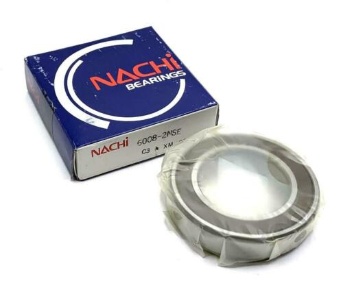 2 Available Nachi 6008-2NSE Deep Groove Ball Bearing 40 MM X 68 MM X 15 MM