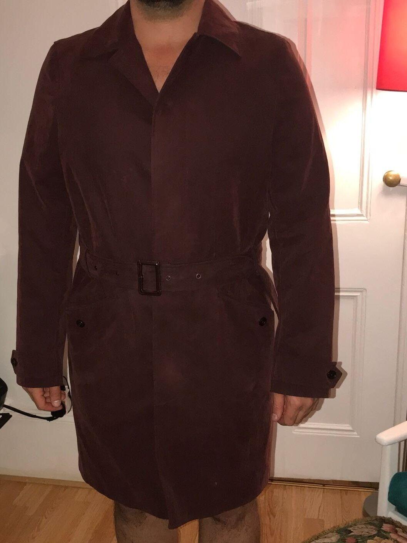 John Lewis Men Coat Red LARGE size