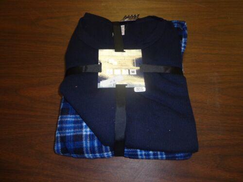 New Essentials Sleepwear mens 2 piece thermal long sleeve top fleece pants #4