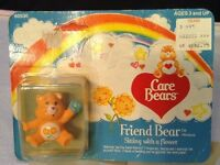 Vintage 1984 Care Bears Friend Bear 2 Pvc Miniature Figure Kenner