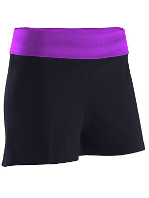 Herrlich Black & Plum Maternity Short Jersey Shorts Size 8 10 12 14 16 18 20 22 24 New Novel (In) Design;