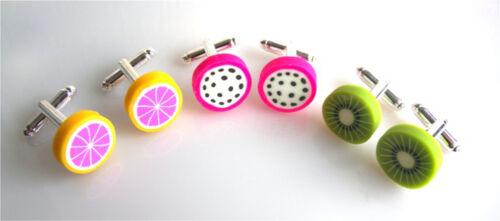Bolsa De Organza Hermoso Hecho A Mano Frutas melones limones kiwis Gemelos-libre de envío