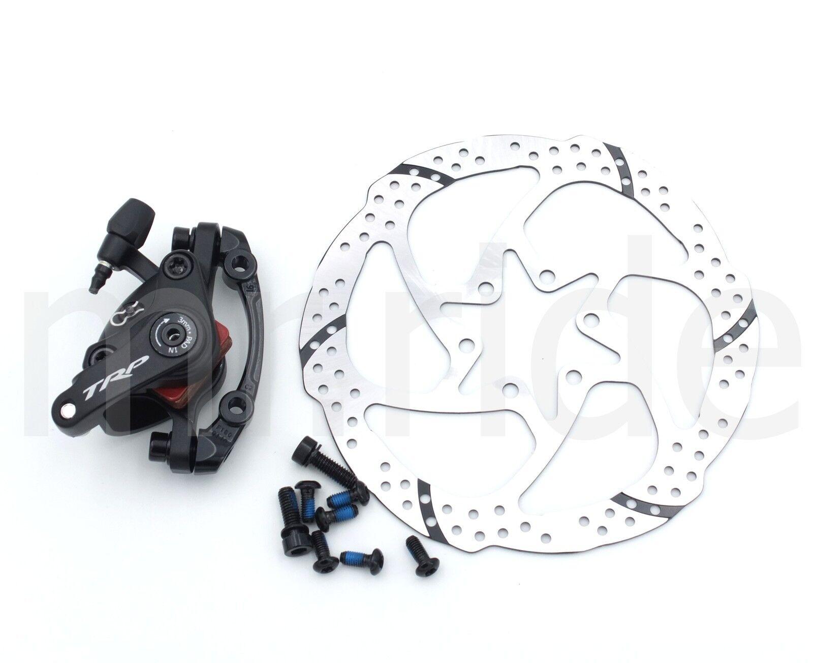TRP Spyke MTB bike Mechanical Front Disc Brake Caliper w adapter+160mm Trp redor
