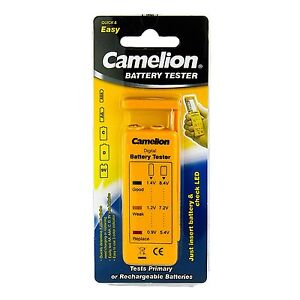 New Camelion BT-0507 battery tester for AA, 2A, AAA, 3A, 9V, C, D