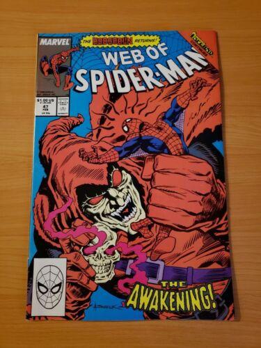 Web of Spider-Man #47 Direct Market Edition ~ NEAR MINT NM ~ 1989 Marvel