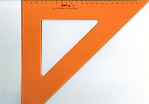 rotring 812 336 Geometrie-Dreieck Hypotenuse 360 mm 90°