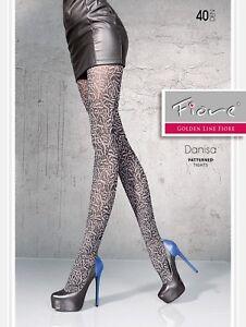 FIORE Felicia Luxury Super Fine 40 Denier Decorative Patterned Tights