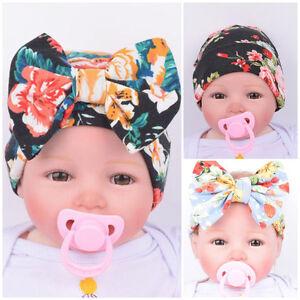 b45b333bfde Flower Bowknot Infant Caps Newborn Hospital Hat KIDS Baby Boy Girls ...