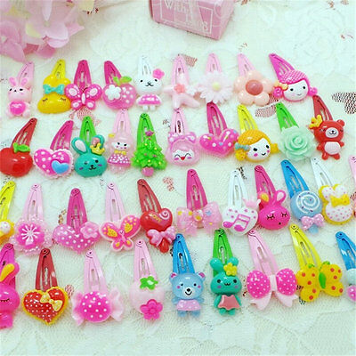 Wholesale 10pcs//Sets Mixed Cartoon Baby Kids Girls HairPin Hair Clips Jewelry