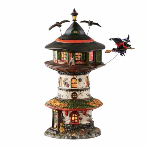 "Department 56 Halloween ""WITCH WAY HOME TOWER"" New 2016 FREE SHIPPING"