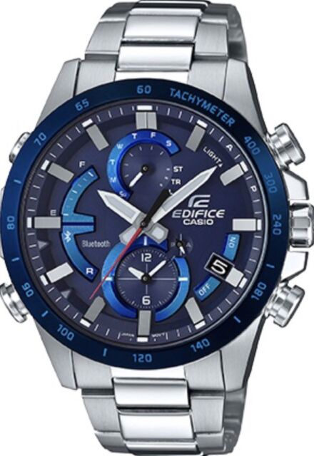 79caf92e576 Casio Edifice Eqb900db-2a Smartphone Link Solar Power Stainless Steel Mens  Watch