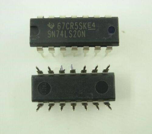 10pcs New Inline SN74LS20N 74LS20 DIP-14 Logic Chip