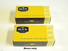 """LOT of 2 BUCK 5"""" long KNIFE BOX FOLDING HUNTER RANGER 450 500 426 422 112 (43)"""