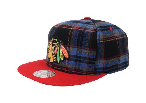 Mitchell /& Ness Men Unisex Hat Cap Black NHL Chicago Blackhawks Adjustable Fit