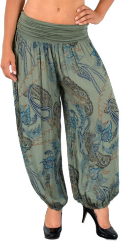 Damen Sommerhose Haremshose Damen Hose Strandhose Hippie Yoga Hose S12