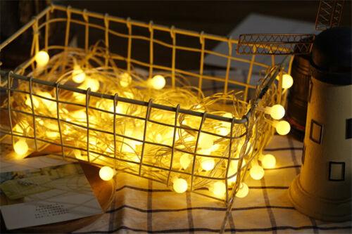 LEDs Christmas String Lights Garden Path Yard Decor Lamp Outdoor Party Xmas Tree