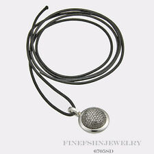 Authentic Ti Sento Milano Silver  Clip Eye Leather Pendant  6705SD