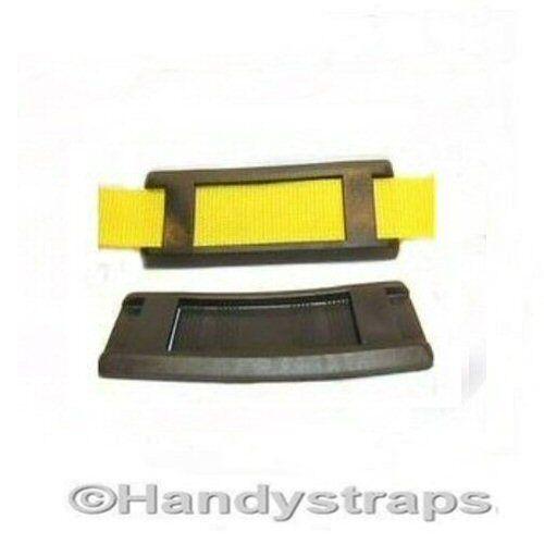 Shoulder Pads for Webbing 2 x 40mm Black Handy Straps
