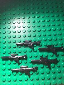 LEGO-Star-Wars-5x-Waffe-Weapon-Blaster-Lang-Ersatzteil